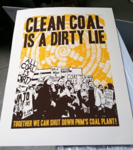 Clean Coal is a Dirty Lie Poster