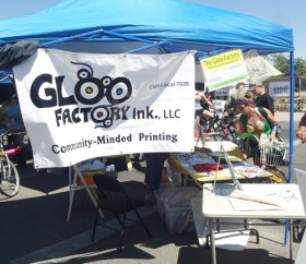 The Gloo Factory booth at 4th Ave & 26th Street in South Tucson.