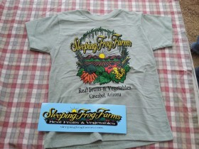 sleeping frog shirt and sticker