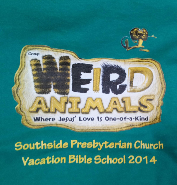 A three color design for Vacation Bible School.
